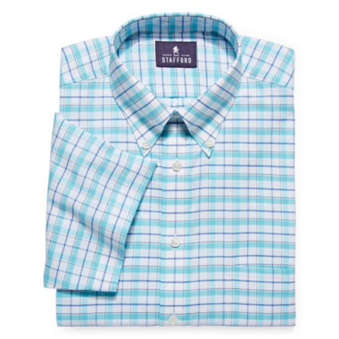 jcpenney.com | Stafford® Travel Short-Sleeve Wrinkle-Free Oxford Dress Shirt