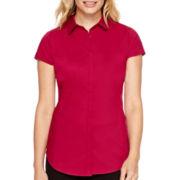 Worthington® Short-Sleeve Button-Front Shirt