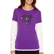 Made For Life™ Long-Sleeve Graphic Print Layered T-Shirt - Petite