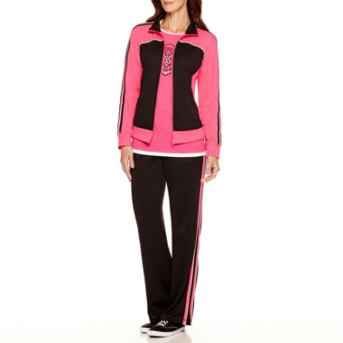 jcpenney.com | Made For Life™ Layered T-Shirt, Mesh Jacket or Pants - Petite