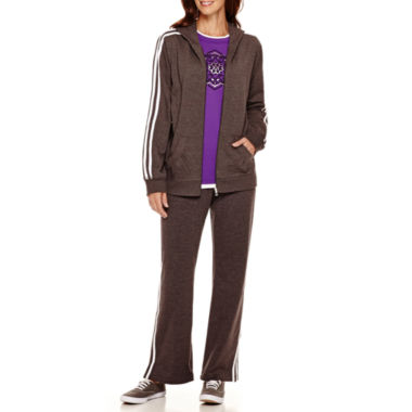 jcpenney.com | Made For Life™ Layered T-Shirt, French Terry Jacket or Pants - Petite