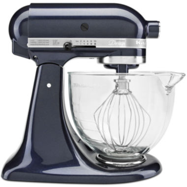 jcpenney.com | KitchenAid® 5-qt. Artisan® Design Series Stand Mixer + Glass Bowl KSM155GBCA