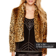 nicole by Nicole Miller® Long-Sleeve Faux-Fur Jacket