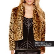 nicole by Nicole Miller® Long-Sleeve Faux-Fur Jacket