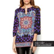 nicole by Nicole Miller® Long-Sleeve Print Tunic