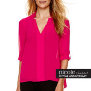 nicole by Nicole Miller® Long-Sleeve Notch-Collar Tunic