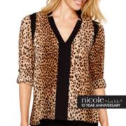 nicole by Nicole Miller® Long-Sleeve Notch-Collar Tunic