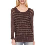 BELLE + SKY™ Fringe Sweater