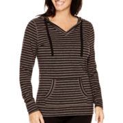 Made For Life™ Long-Sleeve Striped Hooded Tunic - Tall