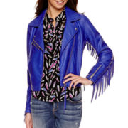 I 'Heart' Ronson® Fringe Faux Leather Jacket