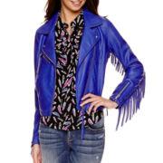 I 'Heart' Ronson® Fringe Faux Leather Jacket