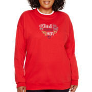 MCCC Sportswear Long-Sleeve Footprints Grandma Fleece Sweatshirt - Plus