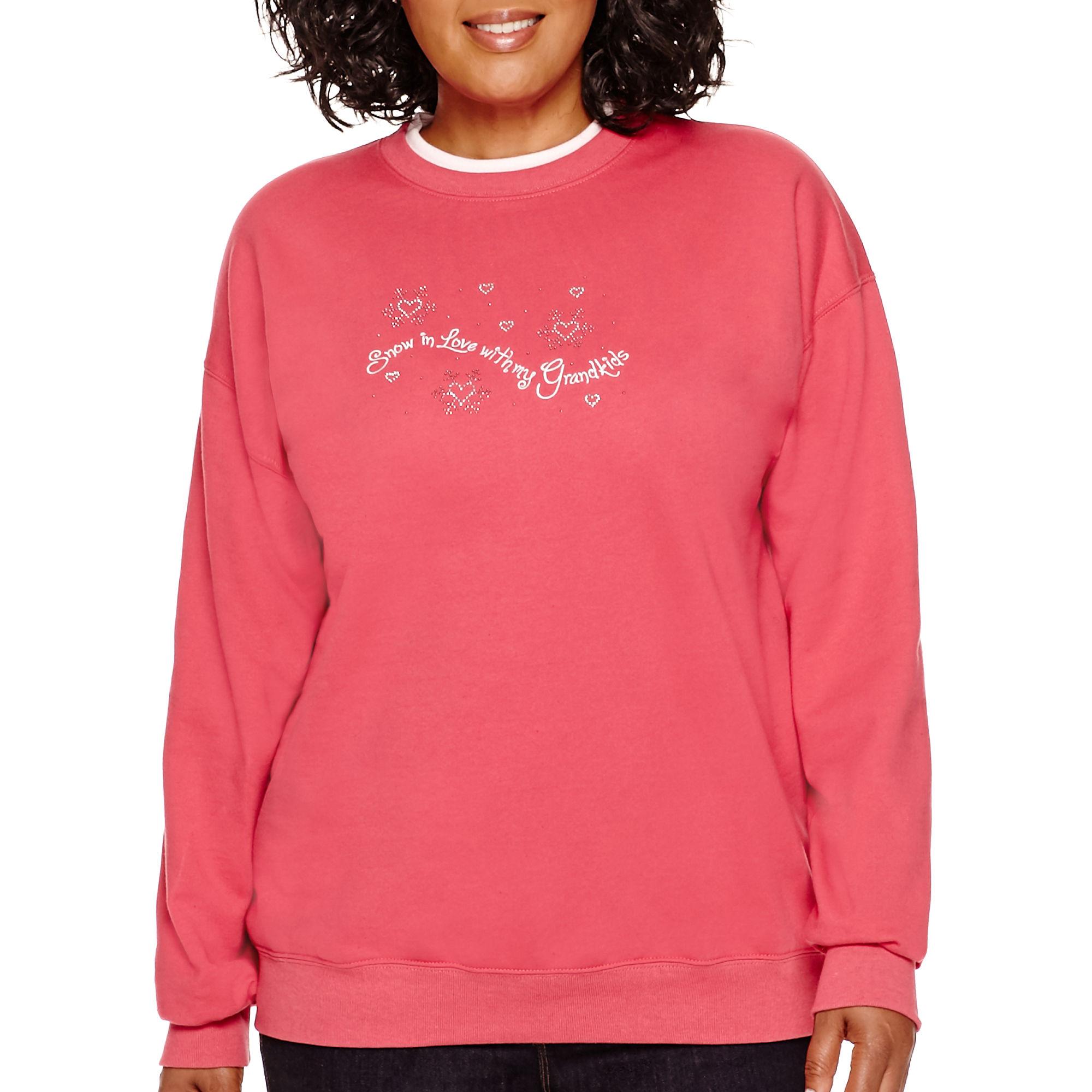 MCCC Sportswear Long-Sleeve Snow In Love Grandma Fleece Sweatshirt - Plus