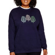 MCCC Sportswear Long-Sleeve Swirl Tree Fleece Sweatshirt - Plus