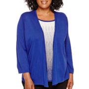 Alfred Dunner® 3/4-Sleeve Layered Sweater - Plus