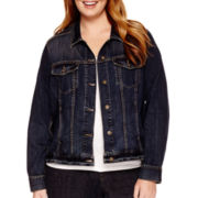 Liz Claiborne® Denim Jacket - Plus