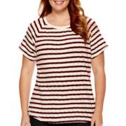 Liz Claiborne® Short-Sleeve Striped T-Shirt - Plus