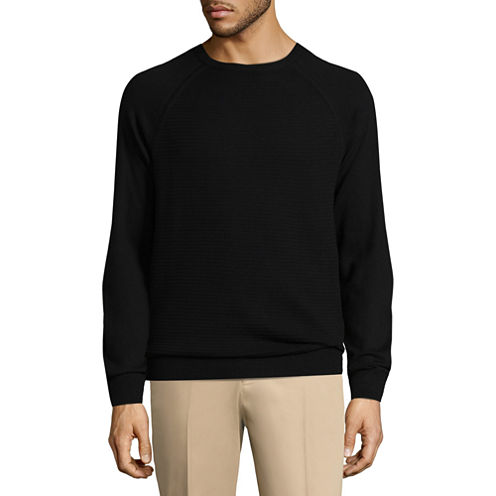 Claiborne Ottoman Crew Neck Long Sleeve Pullover Sweater