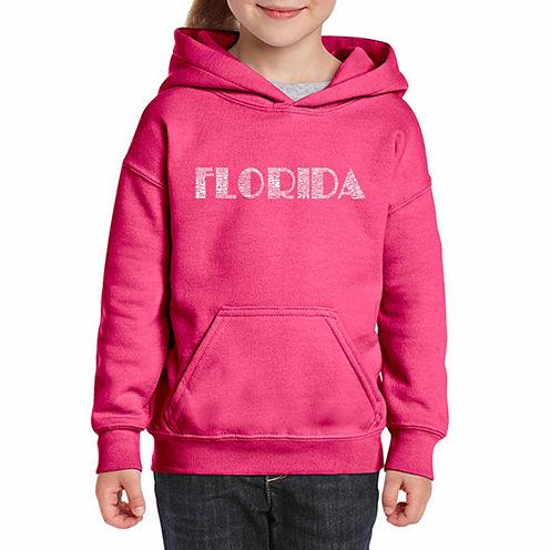 Los Angeles Pop Art Popular Cities In Florida Long Sleeve Sweatshirt Girls