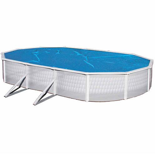 Blue Wave Oval 8-mil Solar Blanket for Above Ground Pools