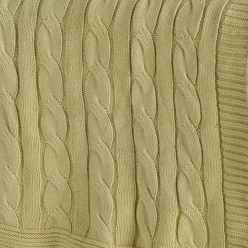 Rizzy Home Classic Cable Knit Stitch Reversible Throw
