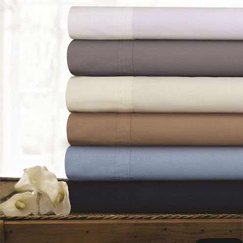 Tribeca Living 300 Thread Count Percale Sheet Set