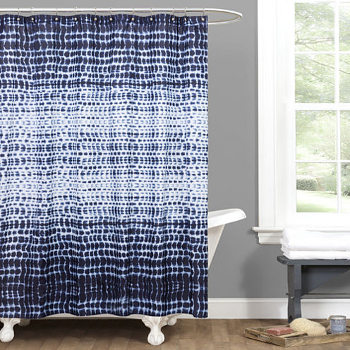 Lush Décor Arney Tie Dye Shower Curtain