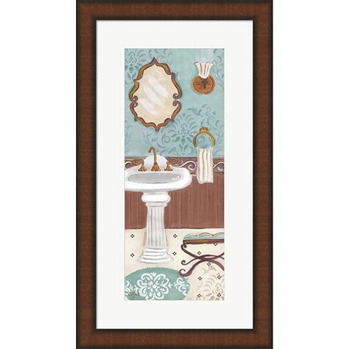 Fancy Bath Panel I Framed Wall Art