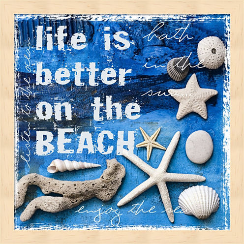 Life Is Better On The Beach Framed Wall Art