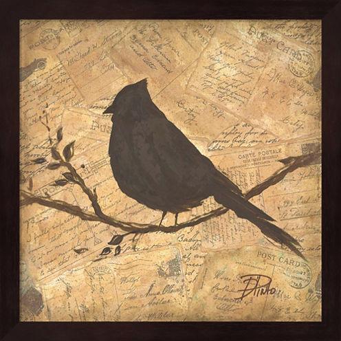Bird Silhouette II Framed Wall Art