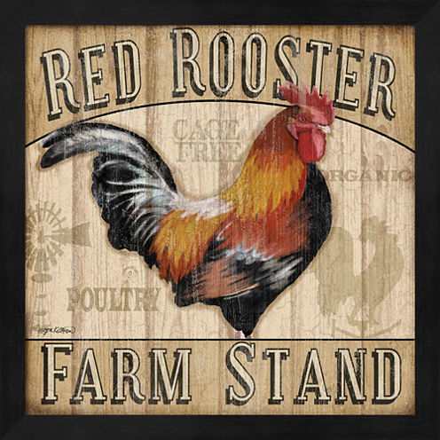 Country Rooster I Framed Wall Art