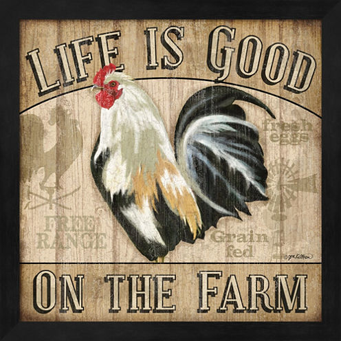Country Rooster II Framed Wall Art