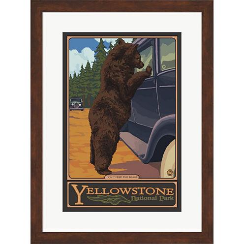 Don't Feed The Bears Yellowstone Framed Wall Art