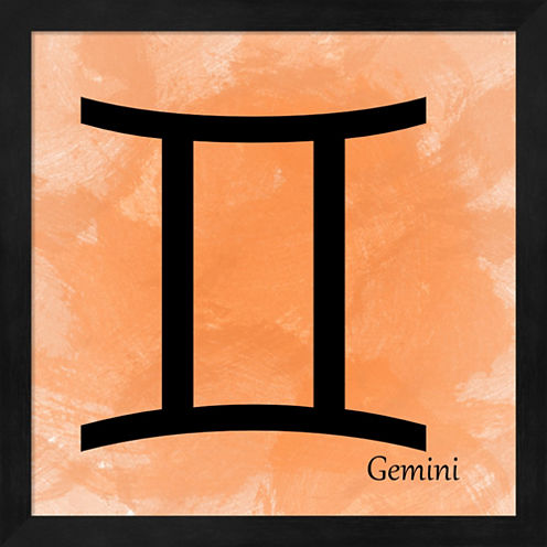 Gemini - Orange Framed Wall Art