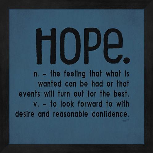 Definitions-Hope III Framed Wall Art