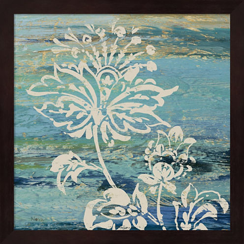 Blue Indigo With Lace III Framed Wall Art