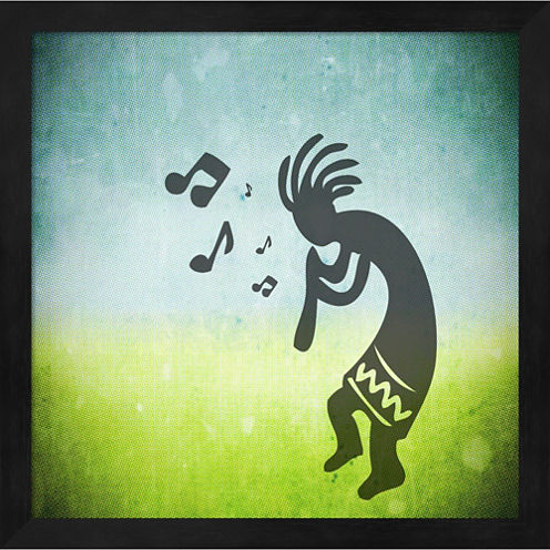 Kokopelli Music I Framed Wall Art
