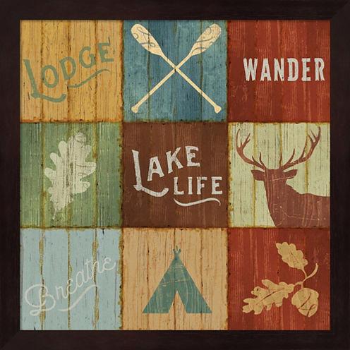 Lake Lodge VII Framed Wall Art