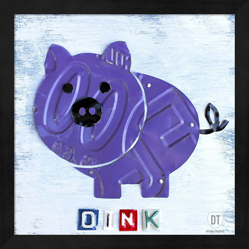 Oink The Pig Framed Wall Art