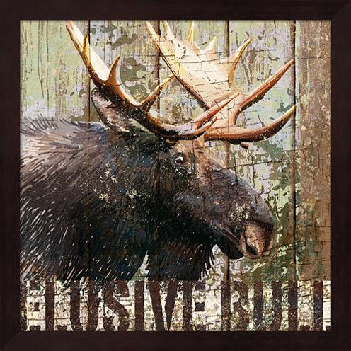 Open Season Moose Framed Wall Art