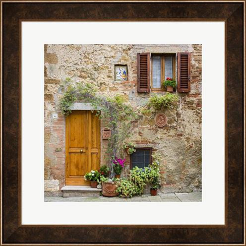 Pienza Facade #2 Framed Wall Art