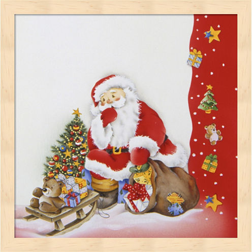 Santa's Christmas Pause Framed Wall Art