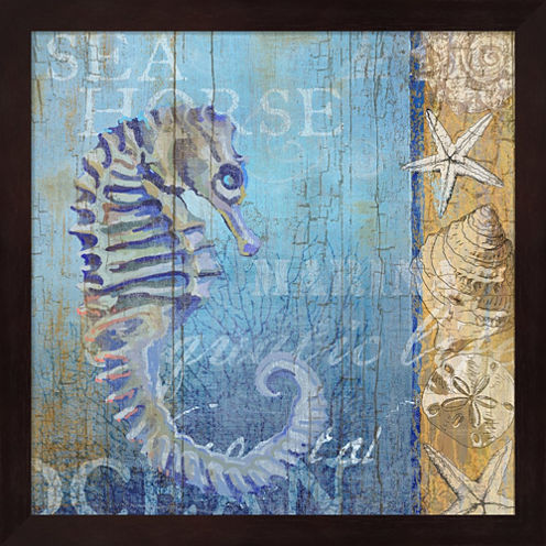 Sea Horse And Sea Framed Wall Art