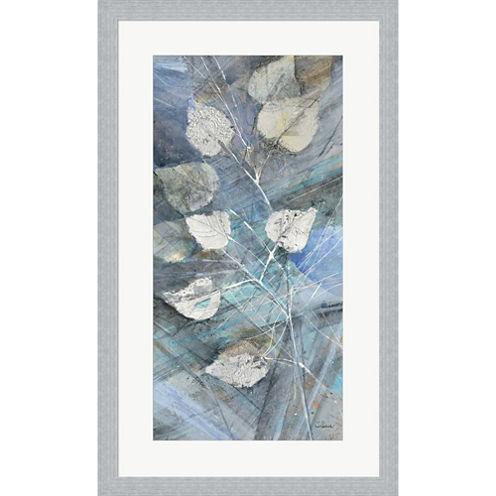 Silver Leaves I Framed Wall Art