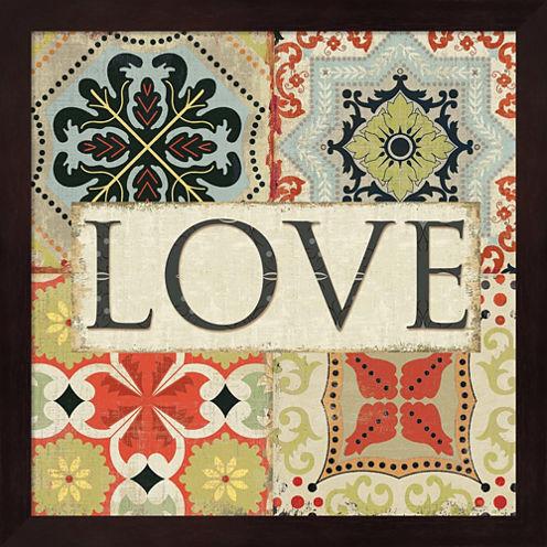 Spice Santorini I - Love Framed Wall Art