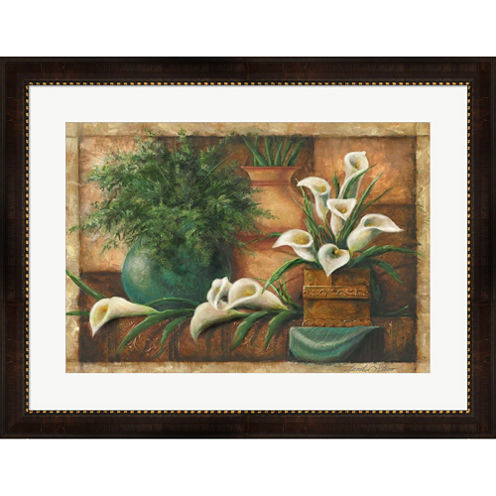 Vessels And Callas Framed Wall Art