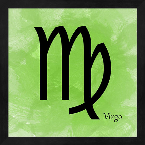 Virgo - Green Framed Wall Art