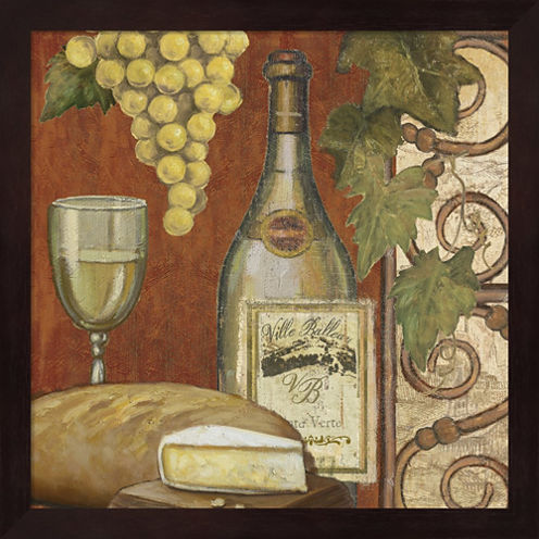 Wine And Cheese Tasting 2 Framed Wall Art