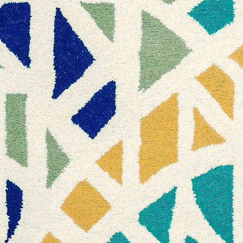 Rizzy Home Bradberry Downs Collection Hand-TuftedEmma Geometric Area Rug