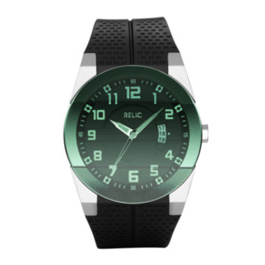 jcpenney.com | Relic® Mens Green Dial Black Strap Watch ZR11860